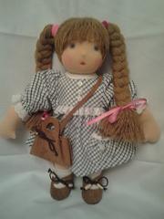 Кукла Конопушка,  игровая, текстильная в вальдорфском стиле