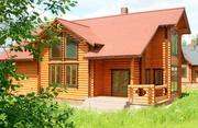 Помогу построить дом из бруса круглого «лиственница» либо клеенного и