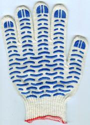 Перчатки хб с ПВХ от производителя.