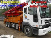 Бетононасос  DONG YANG DMC37XR на базе шасси Daewoo Novu