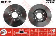 Тормозной диск trw df4152 Honda fit gd3