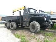 Урал 4320 бортовой с КМУ 3т